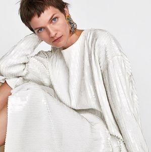 🔮 NWT ZARA Knit | Sequin Tunic Top